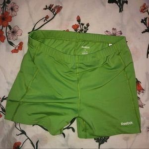 Reebok Athletic Spandex Chartreuse